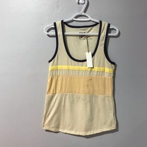 Camp Collection Oceanside Tank Cream/Peach Small